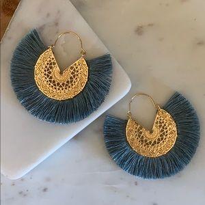 BOGO! Blue Fan Fringe Earrings